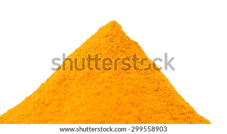 turmeric isolated on white background