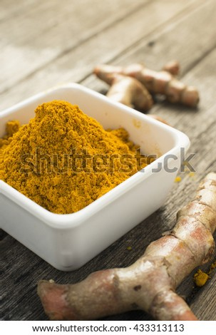 Turmeric powder and turmeric in the chalice