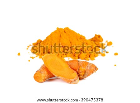 Turmeric,Turmeric powder isolated on white background.