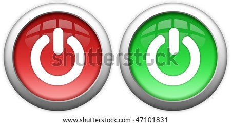 Turn on off button - stock photo
