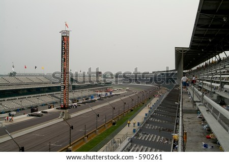 Turn one - Indy - stock photo