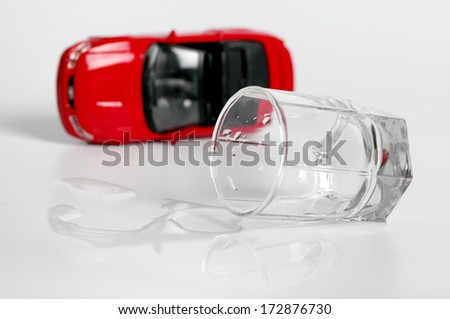 turn the car and alcohol. concept does not drink driving - stock photo
