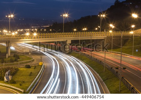 turn the highway at night