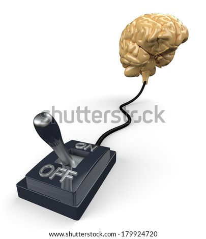 turn your brain off - stock photo