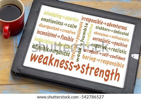 turning my weaknesses into strengths A 3-step plan for turning weaknesses into strengths few of us make any progress in turning them into strengths chronic weaknesses are usually not due to.