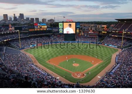 Turner Field, home of the Atlanta Braves - stock photo