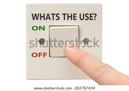 Turning off Whats the use with finger on electrical switch