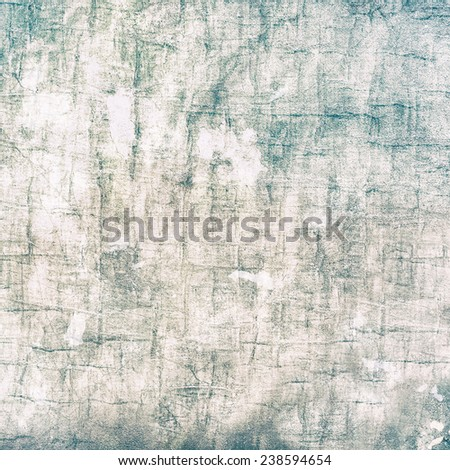 Turquoise aqua blue gray and sepia brown abstract background with weathered distressed grunge textures and copy space - stock photo