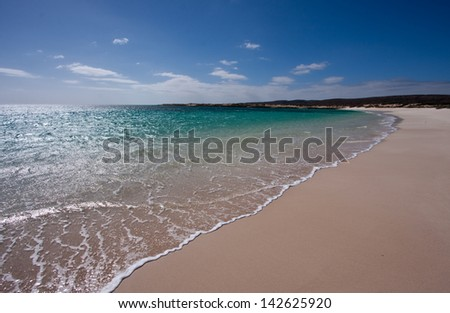 Turquoise Bay in the Cape Range National Park, Ningaloo Reef near Exmouth, Western Australia. - stock photo