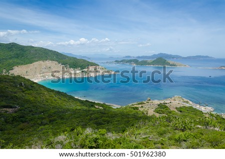 turquoise beach at Binh Tien, Cam Ranh
