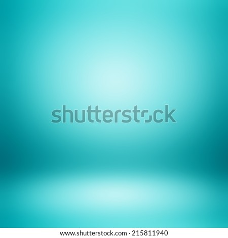 Turquoise blue abstract background - stock photo