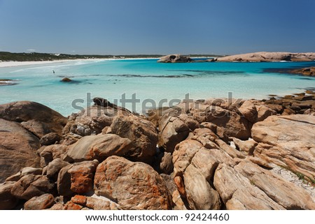 Turquoise blue beach of West Australia