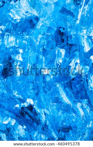 Turquoise blue oil paint texture. Oil painted background. Abstract backdrop. Abstract background. Abstract wallpaper. Abstract pattern. Blue pattern. Oil art. Marine pattern. Marine background. Sea - stock photo