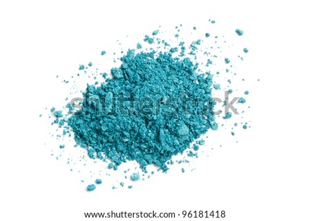 Turquoise eye shadow - stock photo