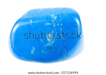turquoise gemstone isolated on white background
