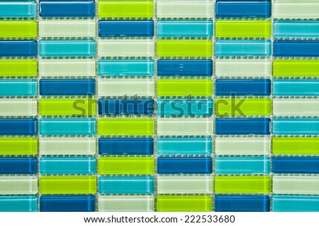 turquoise green and blue mosaic    - stock photo