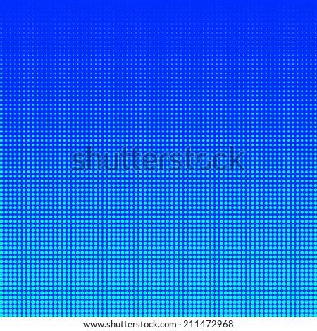 Turquoise halftone on blue background - stock photo