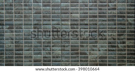 Turquoise mosaic ,wall ,floor tile - stock photo