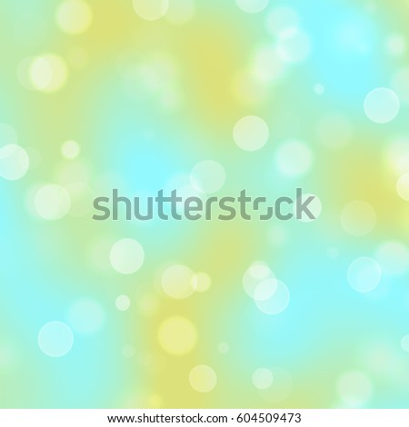 Turquoise, orange and white bokeh background