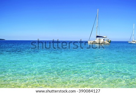 turquoise sea on Ionian islands Ithaca Greece