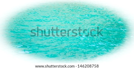 Turquoise sea surface with waves. Bleached angles. - stock photo