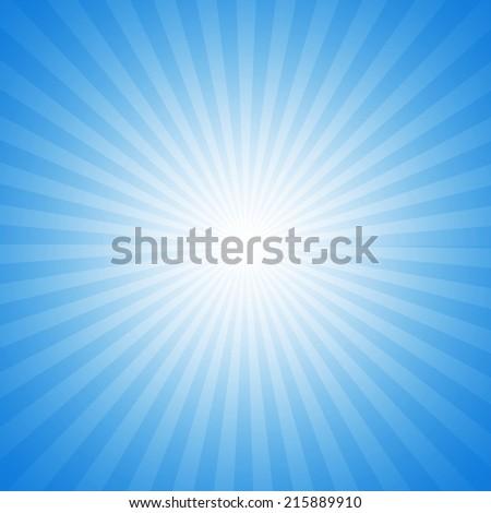 Turquoise starburst effect background - stock photo