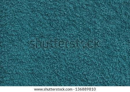 Turquoise towel background - stock photo