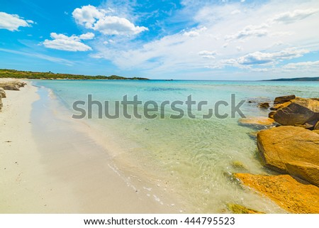 turquoise water in Puntaldia beach, Sardinia