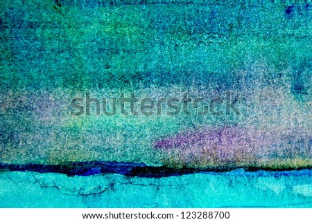 Turquoise Watercolor Background 3