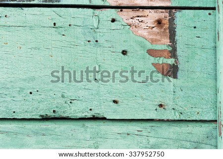 turquoise weathered wood surface plank