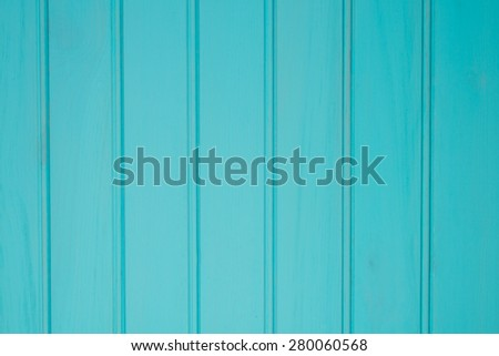 Turquoise wood boards background. - stock photo