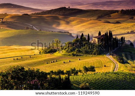 Tuscan Countryside, Italian landscape - stock photo