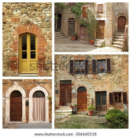 tuscan house composition,Italy - stock photo