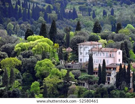 Tuscan villa - stock photo