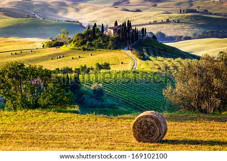 Tuscany, Italian Countryside, landscape - stock photo