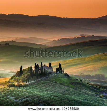 Tuscany, Italy - Landscape - stock photo