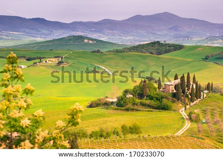 Tuscany, Italy. Landscape - stock photo