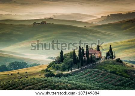 Tuscany, Italy - landscape - stock photo