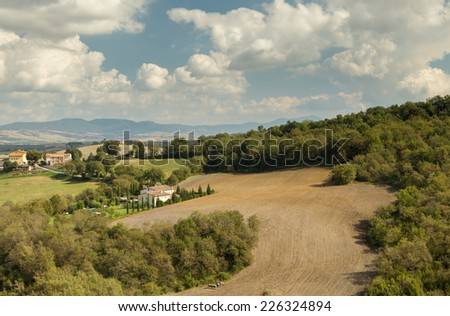 Tuscany, Italy landscape - stock photo