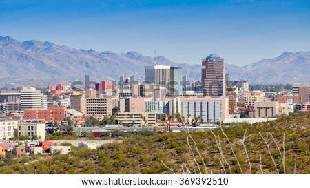 Tuscon Arizona skyline - stock photo