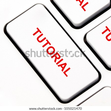 Tutorial keyboard key - stock photo
