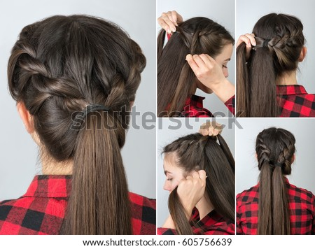 style hair for school tutorial photo step by step simple stock photo edit now 8192