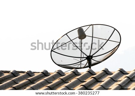 TV antenna on roof