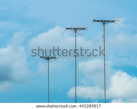 Rooftop Tv Antenna Stock Photos Royalty Free Images