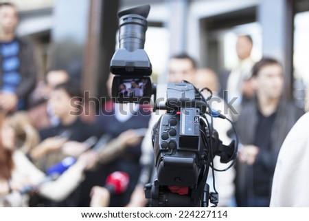 TV broadcasting - stock photo