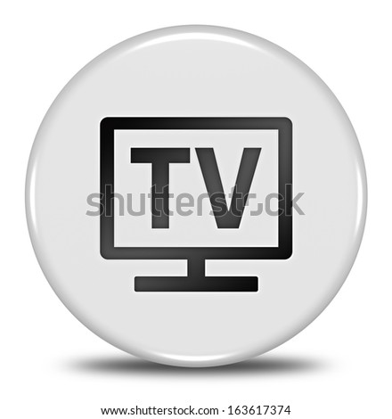tv button isolated - stock photo
