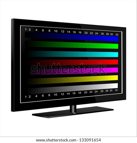 tv - color test pattern - test card - stock photo