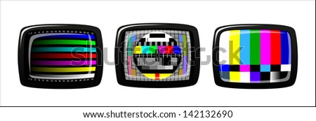 tv - color test pattern - test card, - stock photo