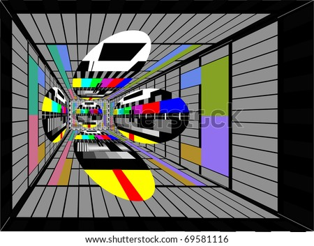 tv colorful background - stock photo