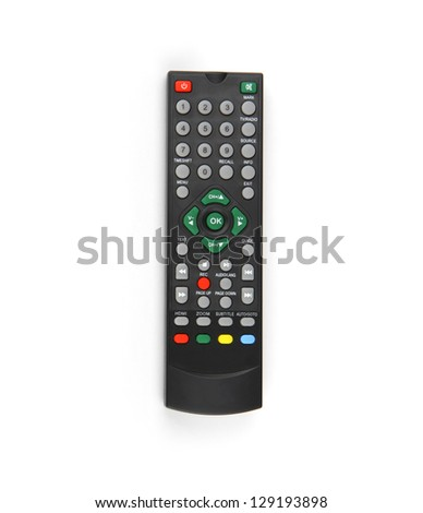 TV controller on white background. - stock photo